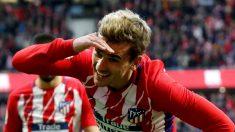 Griezmann celebra su gol a Las Palmas. (EFE)