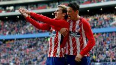 Griezmann y Torres celebran el primer gol. (EFE)