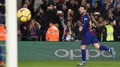 Messi celebra su gol al Alavés. (EFE)