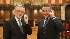 El ex alcalde de Barcelona Xavier Trias y el fundador de Parlem Telecom, Ernest Pérez-Mas.