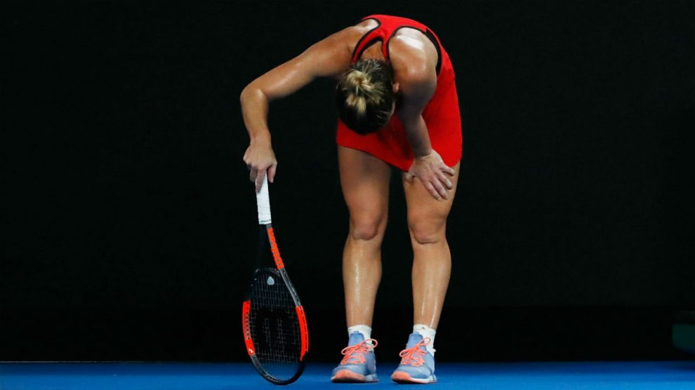 Simona Halep durante la final. (Getty)