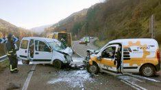 Imagen de archivo de un accidente de tráfico (Foto: EFE).