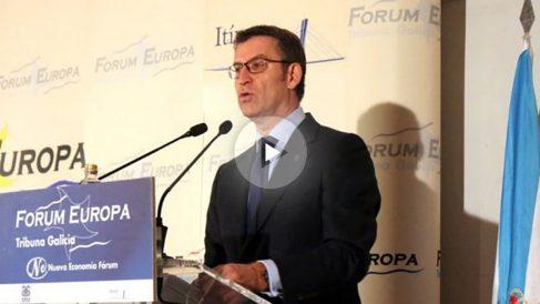El presidente de la Xunta de Galicia, Alberto Núñez Feijóo, en el Fórum Europa.
