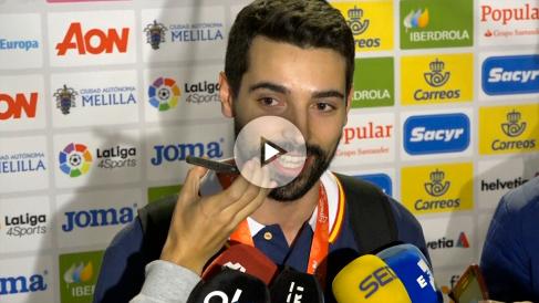 Ferrán Solé, campeón del Europeo de balonmano 2018 con los Hispanos.