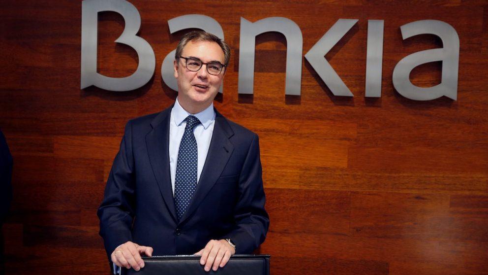 El consejero delegado de Bankia, José Sevilla, a su llegada a rueda de prensa donde hoy presentará resultados de las cuentas de 2017. EFE/ Paco Campos