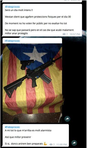 Mensaje de los CDR sobre un arma falsa