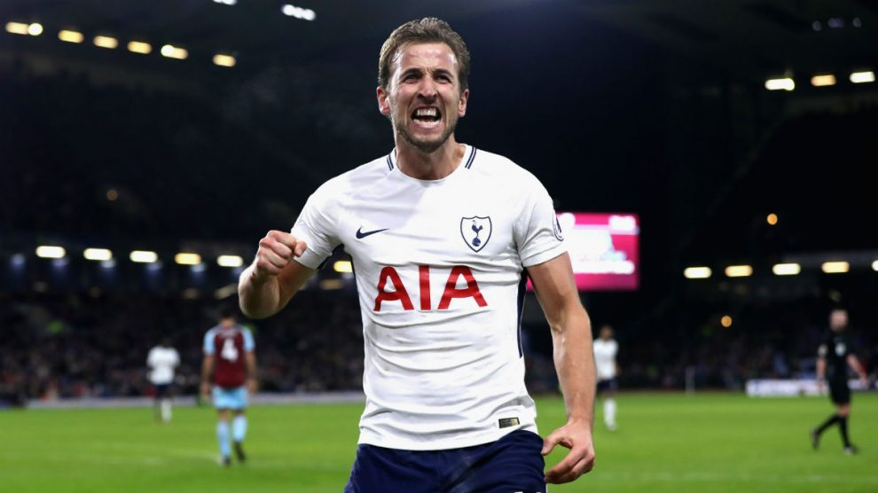 Harry Kane celebra un gol con el Tottenham. (Getty)