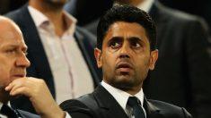 Al Khelaifi, en un partido del PSG. (Getty)