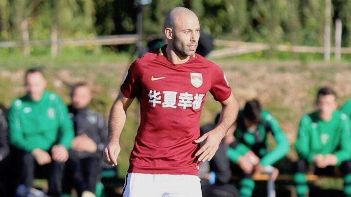 Javier Mascherano, con la camiseta del Hebei Fortune.