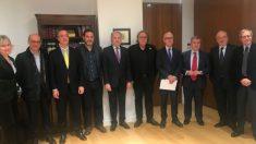 Los participantes en el foro organizado este lunes por el Consejo de Procuradores de España. Foto: Twitter.