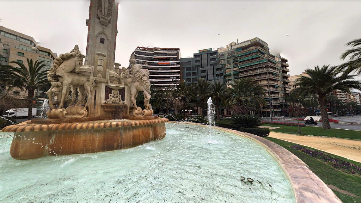 Plaza de los Luceros de Alicante, donde se produjo el suceso.