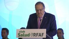 Eduardo Herrera, ex presidente de la RFAF y otra vez candidato tras más de 30 años en el cargo.