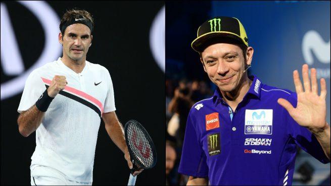 Rossi se inspira en Federer para renovar con Yamaha