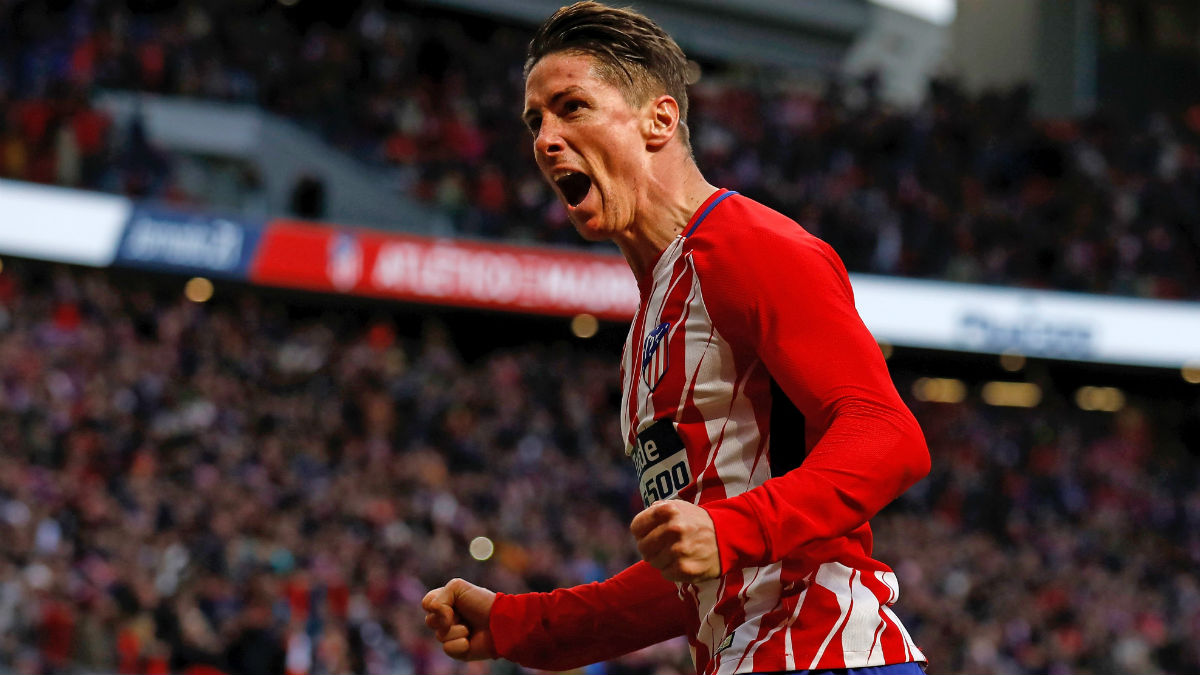 Fernando Torres celebra su gol ante Las Palmas. (Getty)
