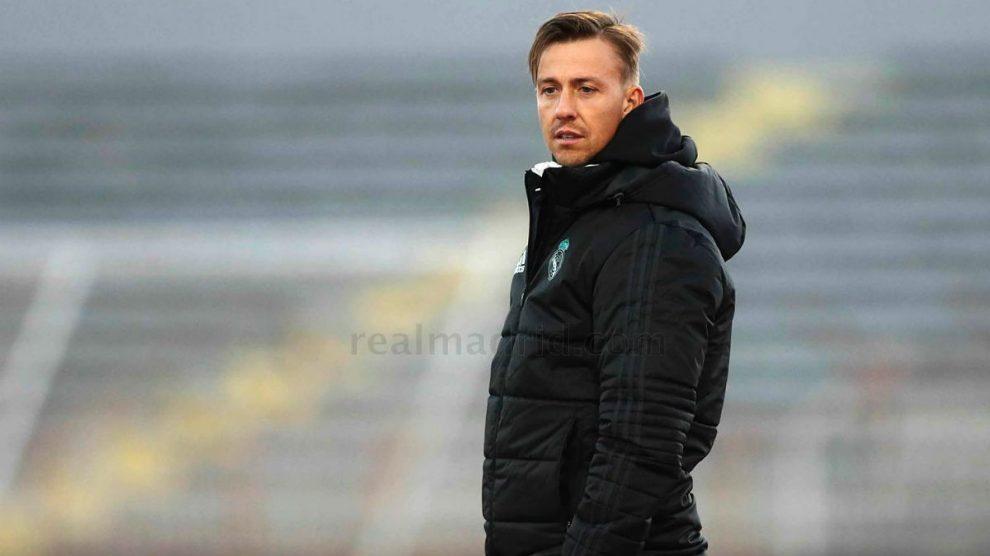 Guti durante un partido de la Youth League. (Realmadrid.com)