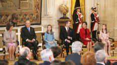 La Princesa Leonor en el acto de imposición del Toisón de Oro. (Foto: EFE)