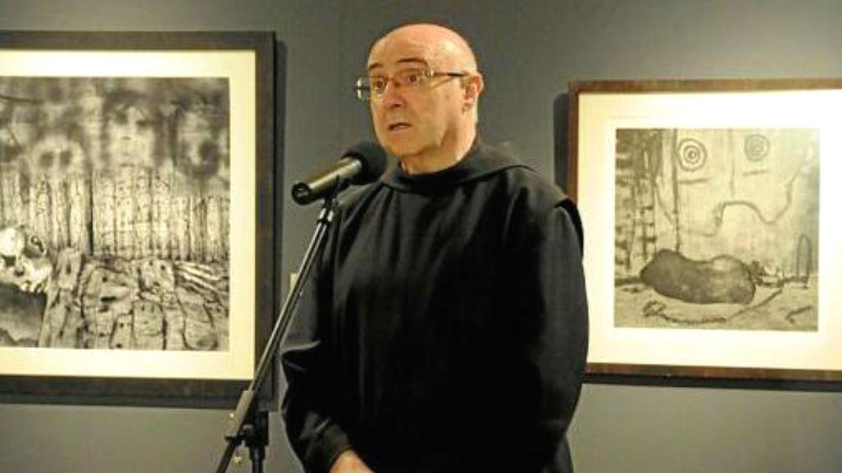 El sacerdoteindependentistaJosep Laplana Puy, uno de los monjes de la abadía de Monstserrat que hace gala de su independentismo hasta cuando tiene que darle una interpretación al Evangelio