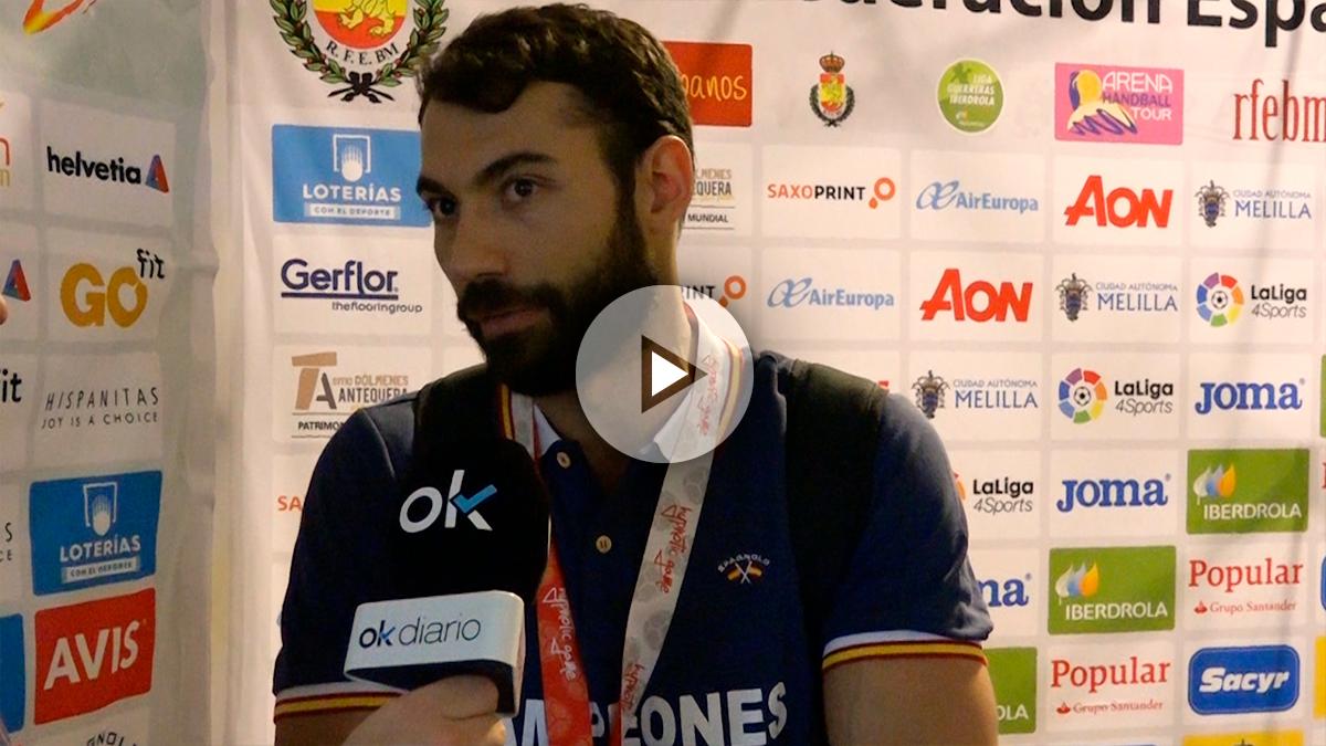 Dani Sarmiento, campeón del Europeo de balonmano 2018 con los Hispanos, habla para OKDIARIO.