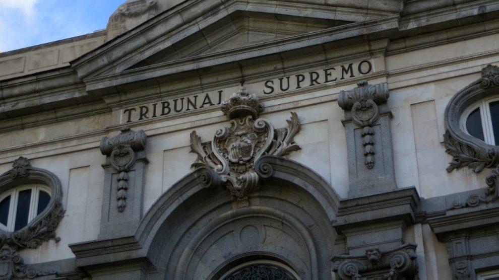 Fachada del Tribunal Supremo, en una imagen de archivo.