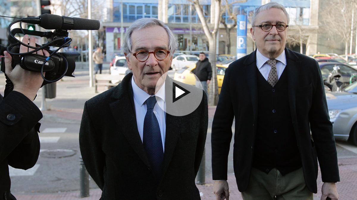 El exalcalde de Barcelona, Xavier Trías, tras su declaración (Imagen: Enrique Falcón).