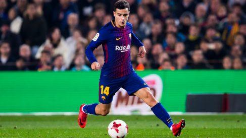 Coutinho durante un partido con el Barcelona.   Alineación Barcelona hoy   Final Copa del Rey 2018