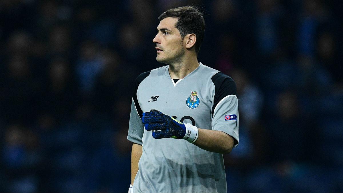 Iker Casillas, durante un encuentro con el Oporto. (Getty)