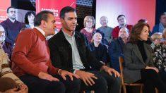 José Manuel Franco, líder del PSOE-M, junto a Pedro Sánchez. (Foto. PSOE)