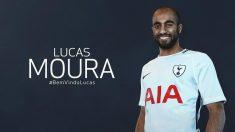 Lucas Moura ya es del Tottenham. (SpursOfficial)