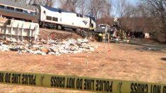 El tren repleto de congresistas republicanos que ha chocado contra un camión de basura en Virginia (EEUU).