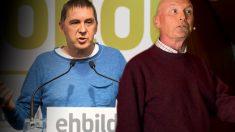 El etarra condenado Otegi y el ex lehendakari Juan José Ibarretxe