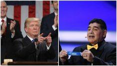 Donald Trump y Diego Armando Maradona tienen un carácter muy controvertido.
