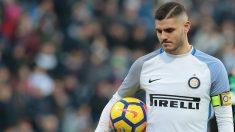 Mauro Icardi, cabizbajo en un partido del Inter. (Getty)