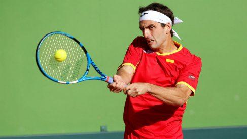 Albert Ramos, en su partido de Copa Davis contra Broady. (EFE)