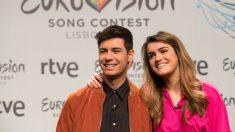 Amaia y Alfred durante la presentación de la canción de Eurovisión. (EFE)