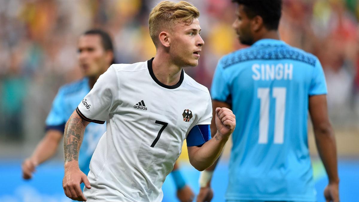 Max Meyer, en un partido con Alemania. (Getty)