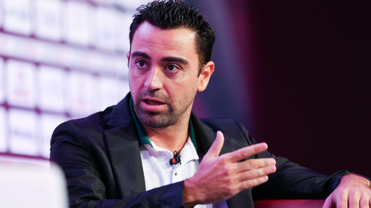 Xavi, durante una entrevista en Doha (Getty)