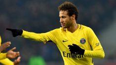 Neymar celebra su gol durante el Lille vs PSG. (AFP)