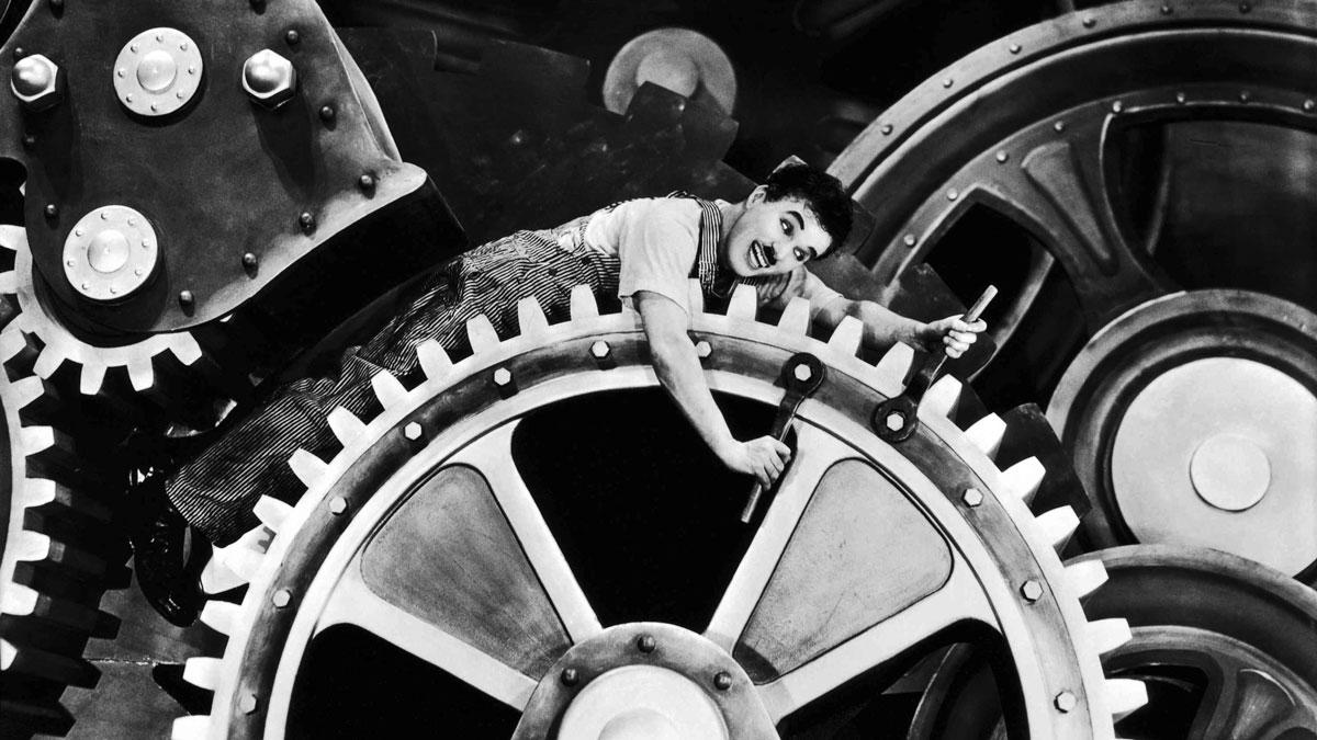 'Tiempos modernos' de Charles Chaplin.