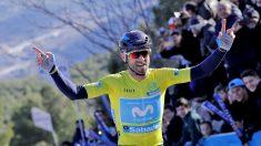 Alejandro Valverde celebra su triunfo. (EFE)