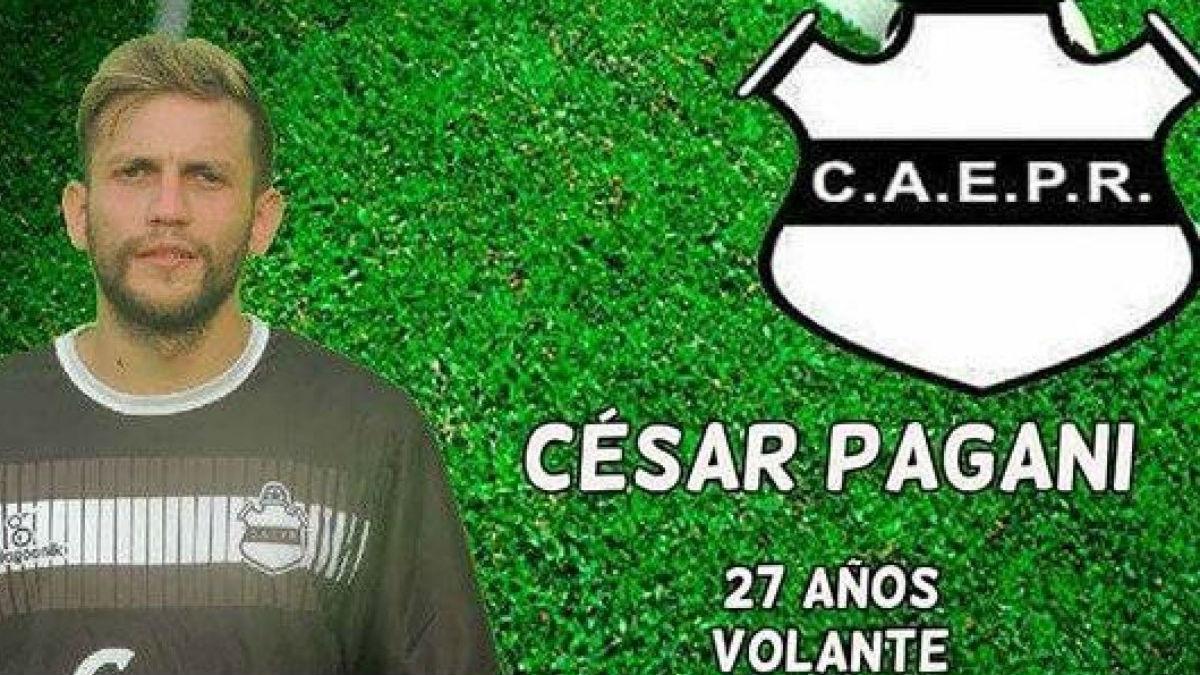 César Pagani es el futbolista que habría atacado a su entrenador con un arma.