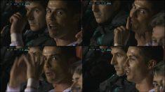 Cristiano dedicó palabras y gestos a las cámaras.