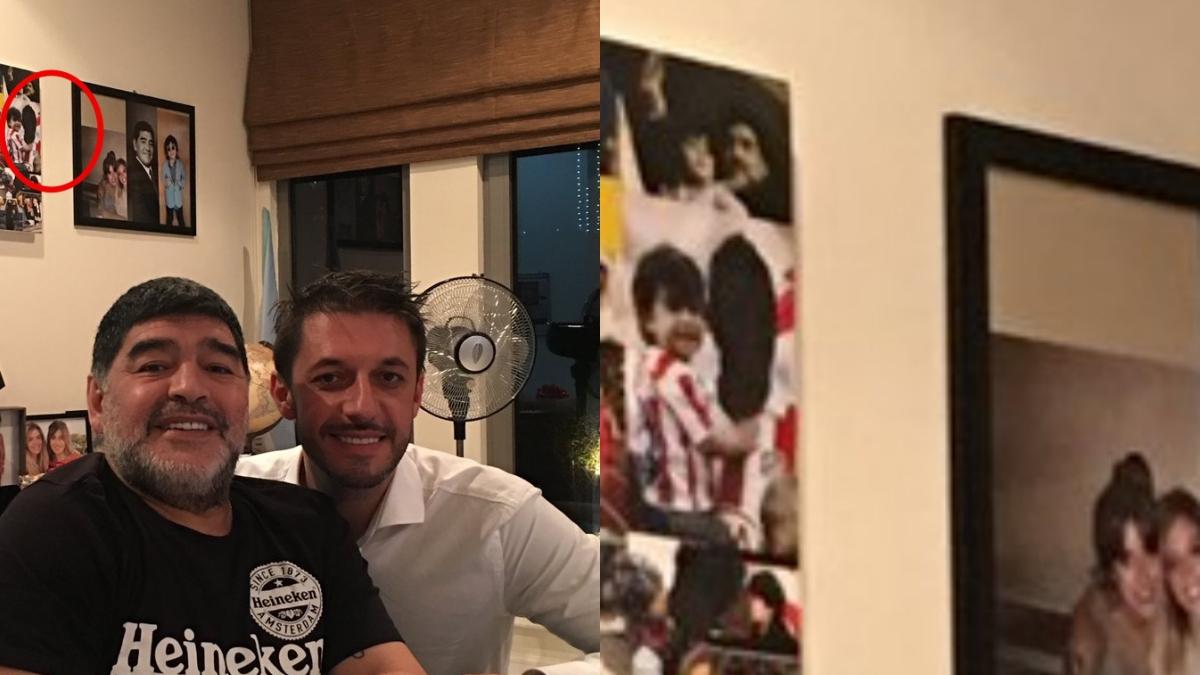 Diego Armando Maradona eliminó al Kun Agüero de una fotografía. (@MatiasMorlaAb)