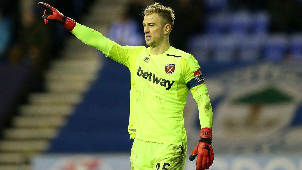Hart durante un partido con el West Ham. (AFP)