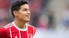 James Rodríguez, en un partido con el Bayern. (AFP)