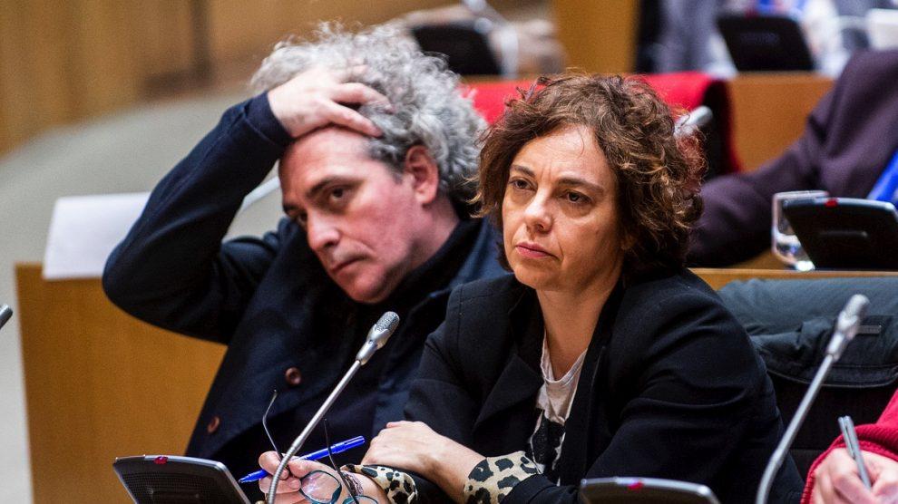 Gloria Elizo, con Marcelo Expósito.