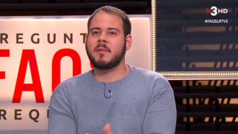 El rapero Pablo Hasel en TV3.