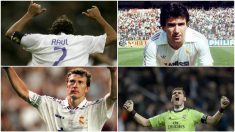 Raúl, Juanito, Butragueño e Iker Casillas.