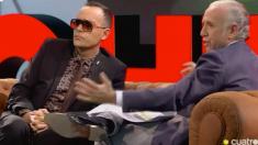 Eduardo Inda junto a Risto Mejide en el programa 'Chester' de Cuatro.