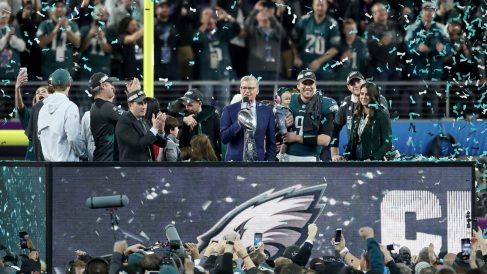 Philadelphia Eagles vencedores de la Super Bowl LII sobre New England Patriots (Getty)