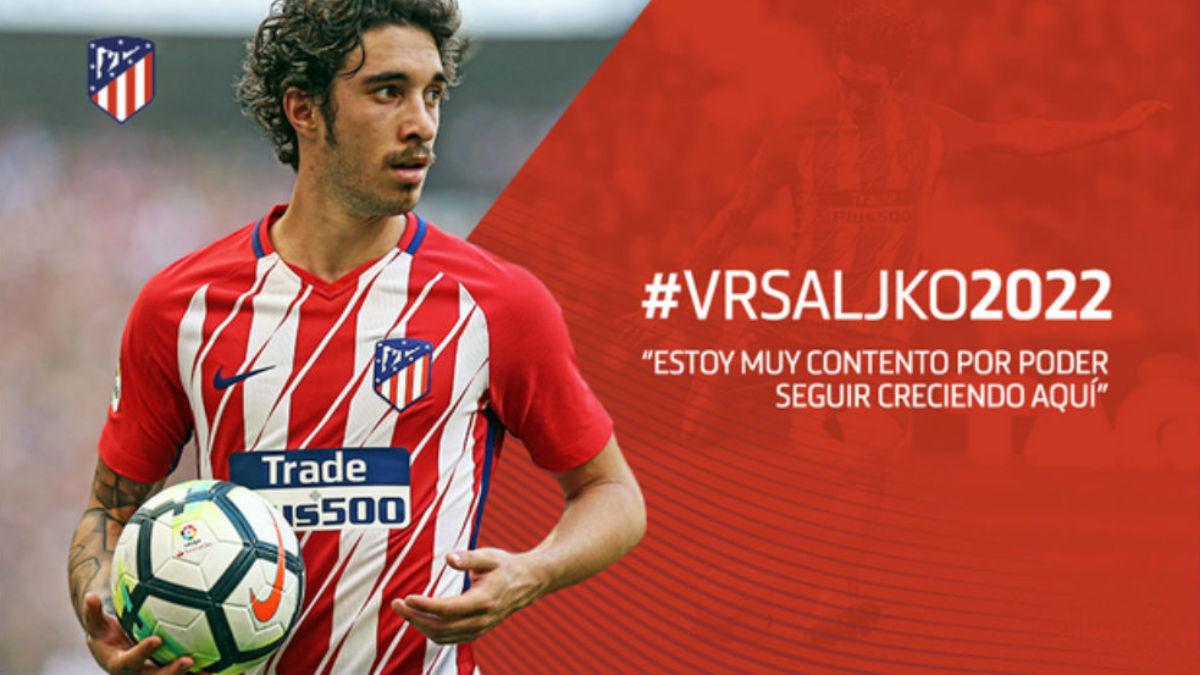 Vrsaljko renueva con el Atlético.